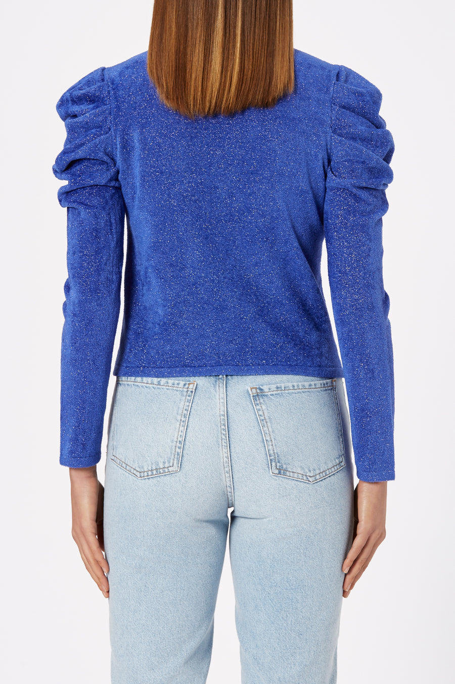 Tinsel Velvet Sweater 12 Blue - Scanlan Theodore