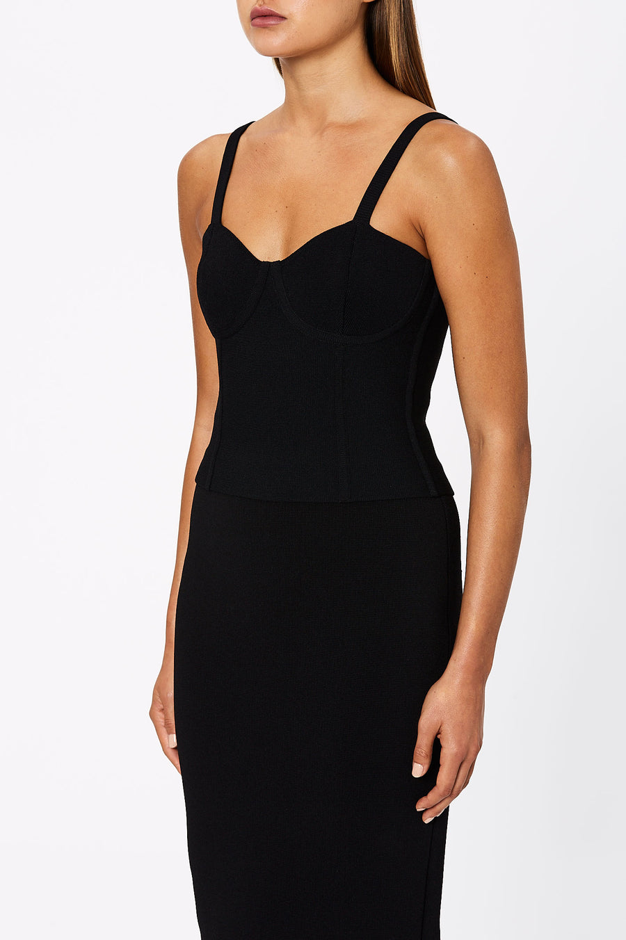 Crepe Knit Bustier Black - Scanlan Theodore