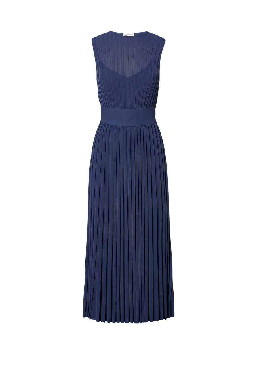 Pleated Rib Dress 16 Slate - Scanlan Theodore