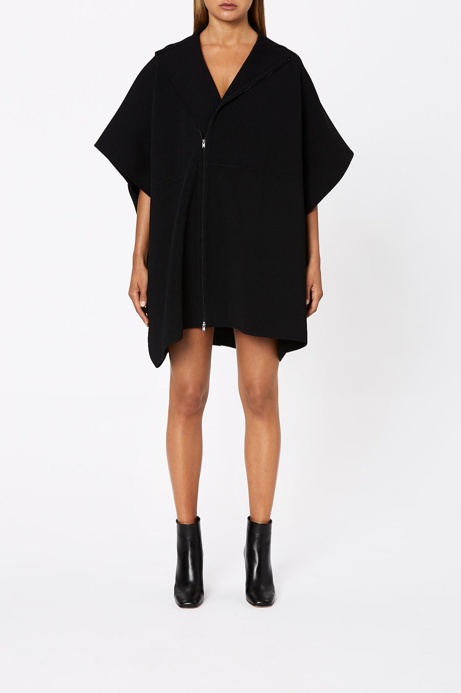 Crepe Knit Dress Cape Black - Scanlan Theodore