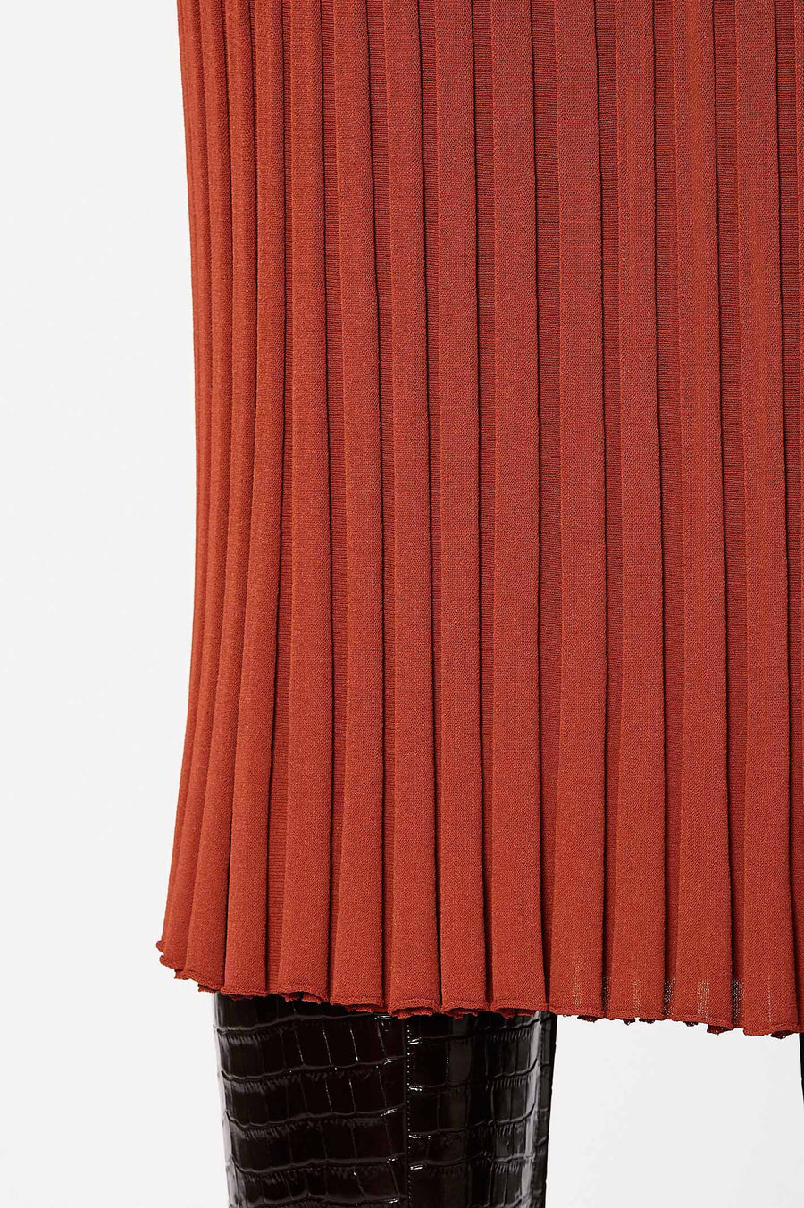 Pleated Rib Skirt 16 Sienna - Scanlan Theodore