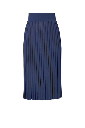 Pleated Rib Skirt 16 Slate - Scanlan Theodore
