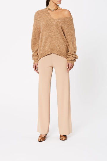 High Waist Knit Trouser Nacello - Scanlan Theodore