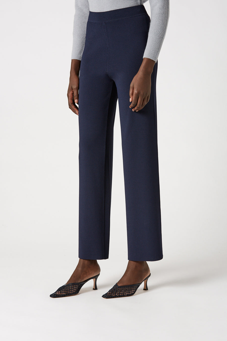 The High Waist Knit Trouser exudes chic winter styling