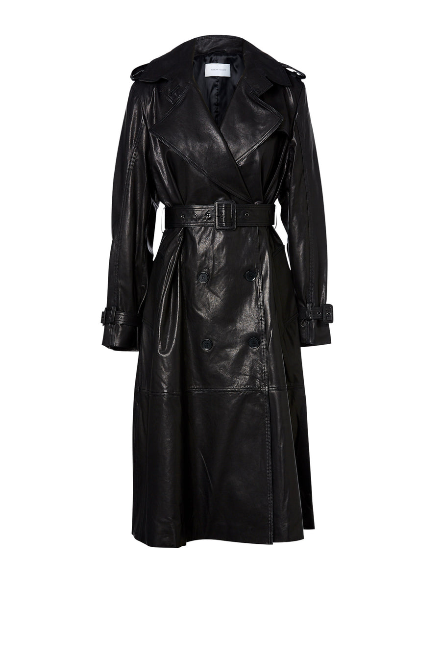 Leather Trench Black - Scanlan Theodore