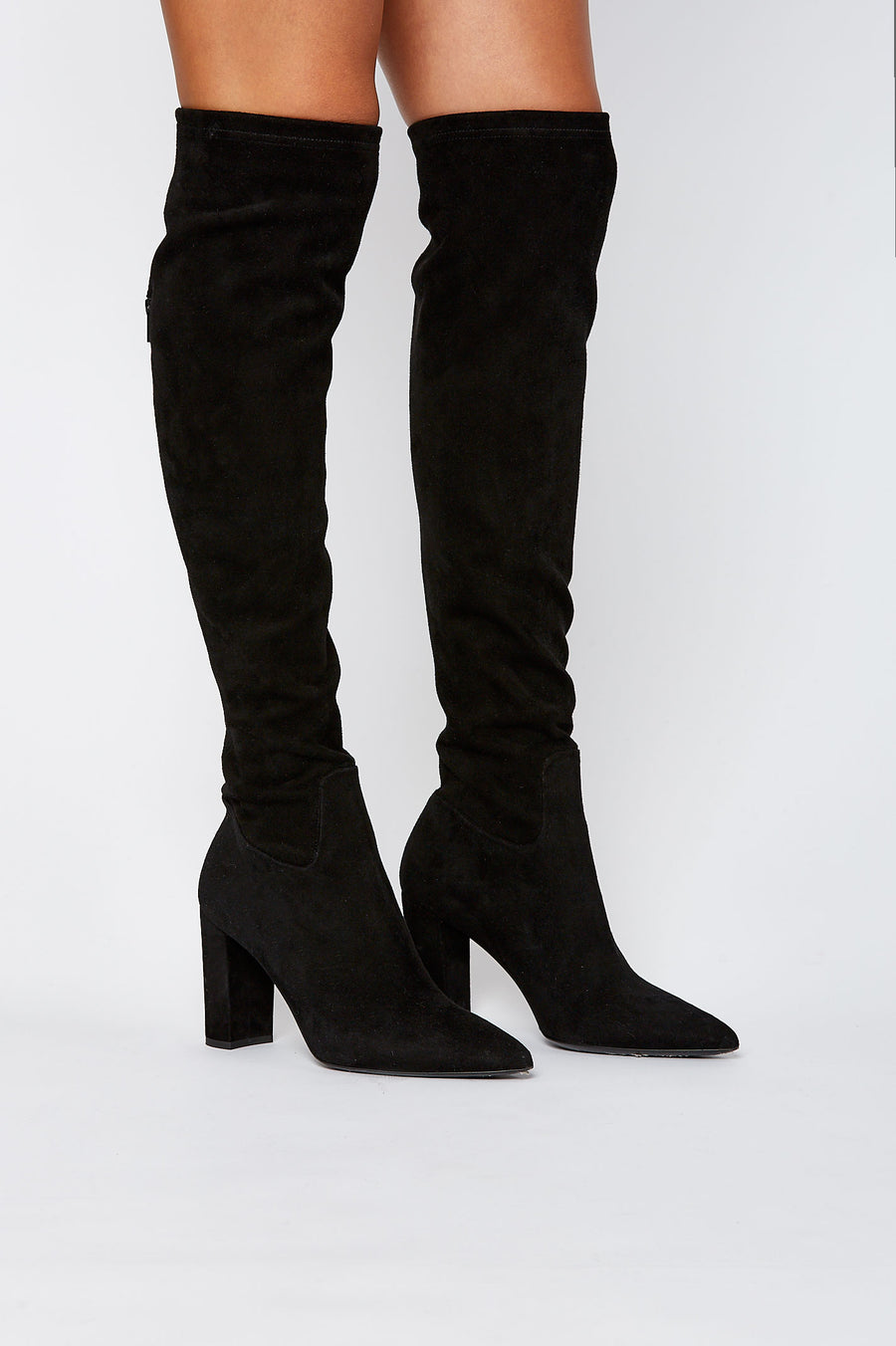 STRETCH OVER THE KNEE BOOT 8.5 NERO