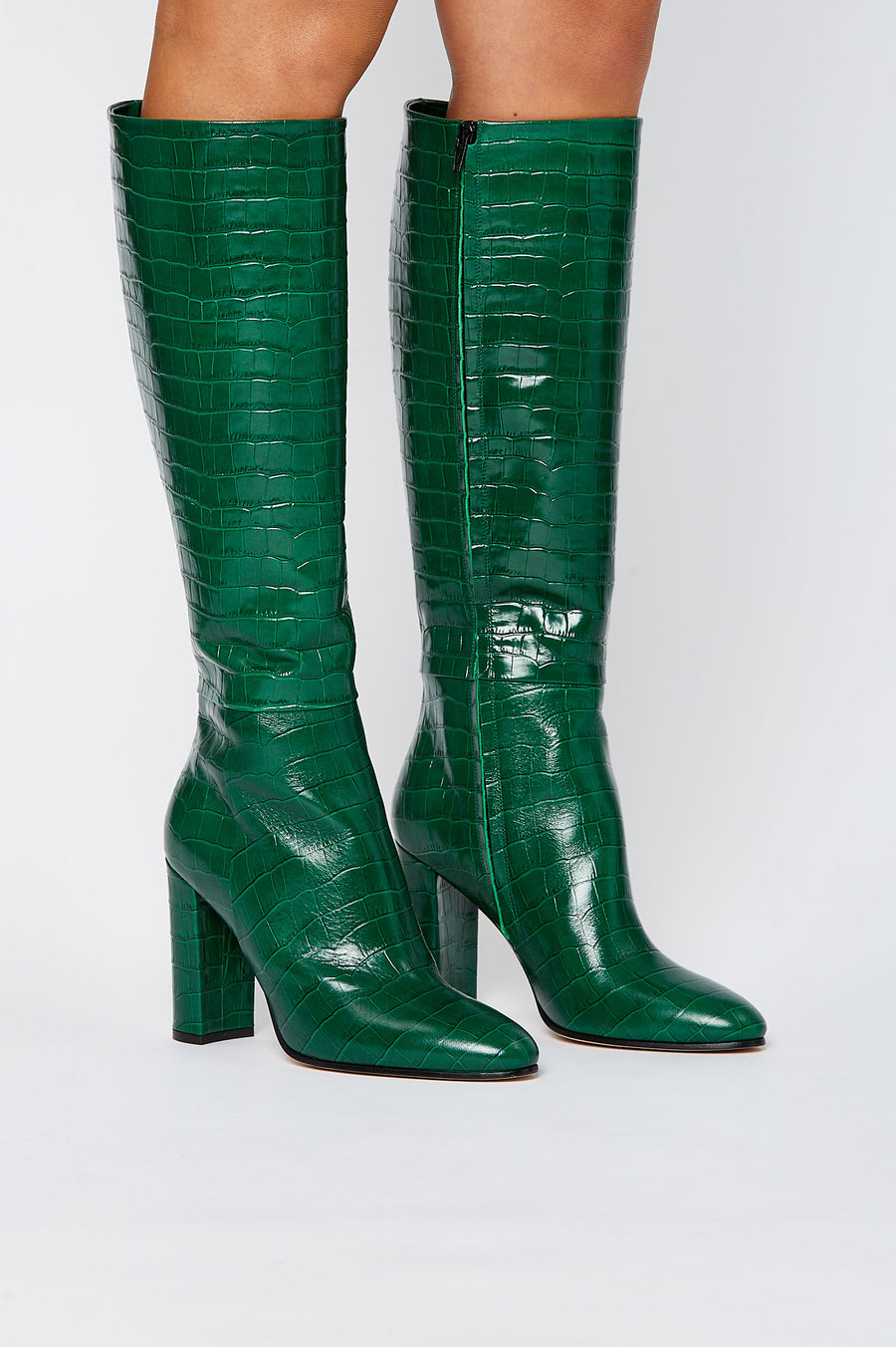 Almond Toe Knee High Boot Emerald - Scanlan Theodore