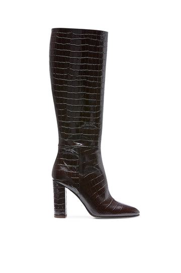 ALMOND TOE KNEE HIGH BOOT MORO