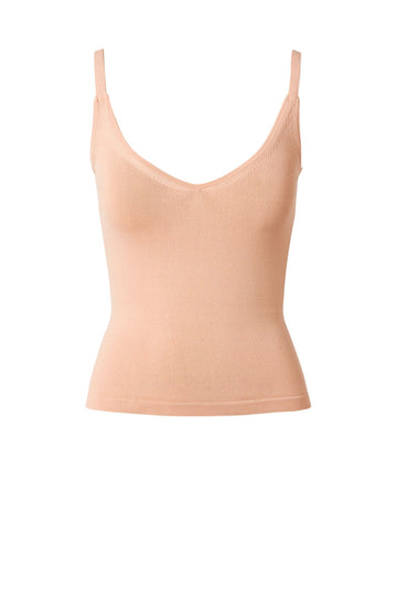 CREPE KNIT CROPPED CAMISOLE PEACH