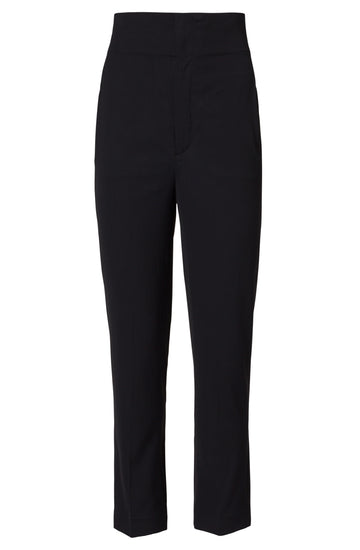 HIGH WAIST TROUSER BLACK, BLACK color