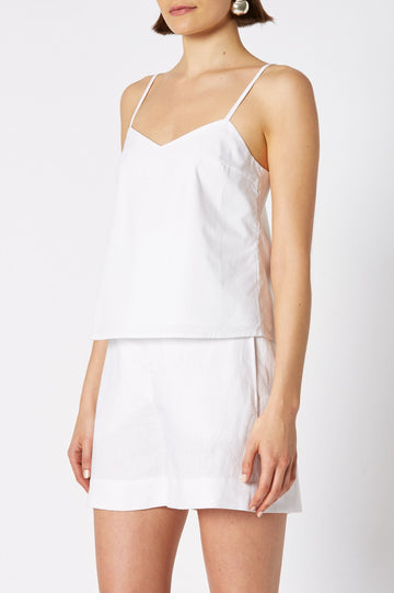 CAMISOLE, SHOESTRING STRAPS, COLOR WHITE