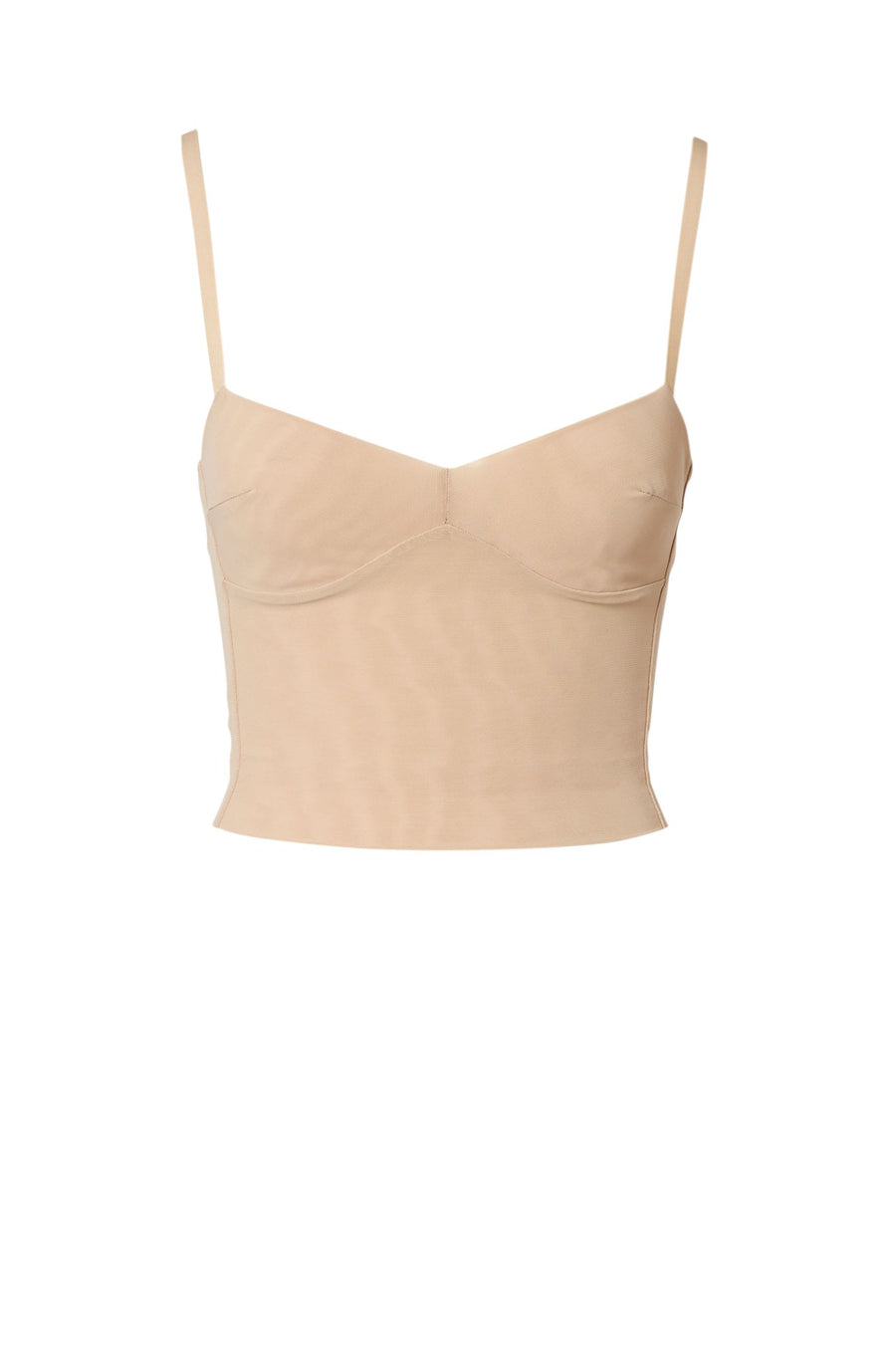 MESH BRALET, SHOESTRING STRAPS WITH BODICE, COLOR FLESH