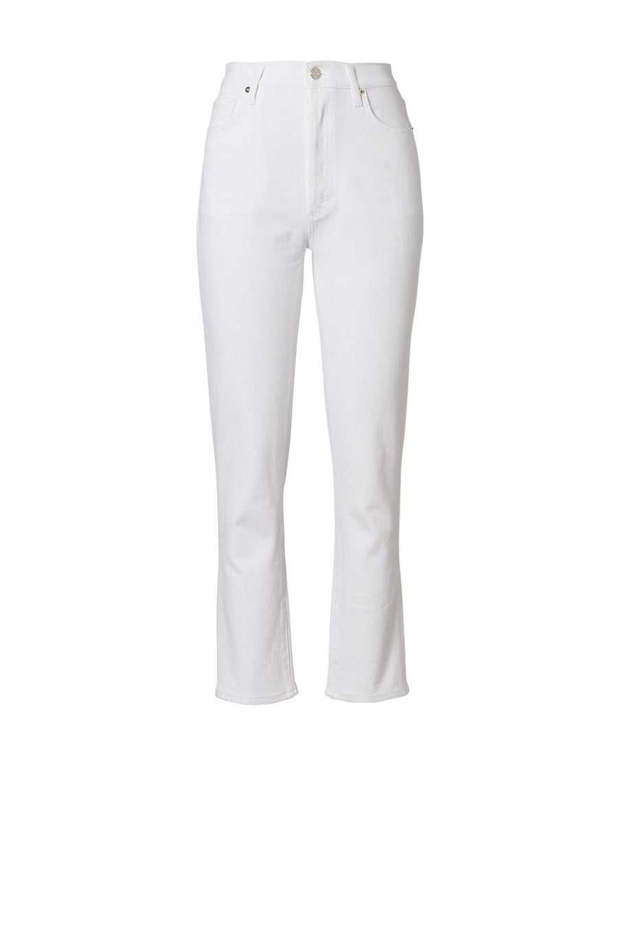 HIGH RISE STRAIGHT CROP JEAN WHITE