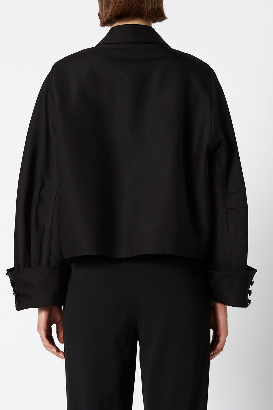 TUX COCOON JACKET BLACK
