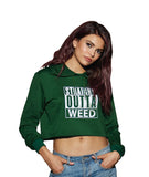 Women's Cropped French Terry Raw-edge Hoodie