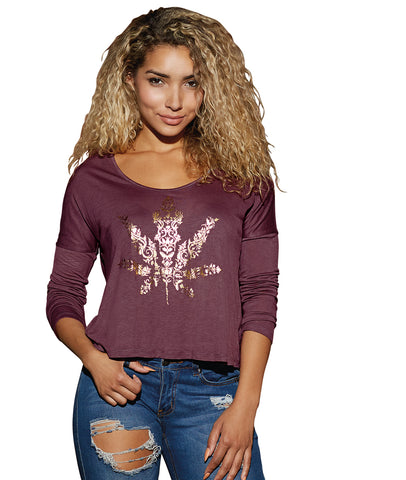 Women's Long Sleeved Semi-Sheer Jersey Tee
