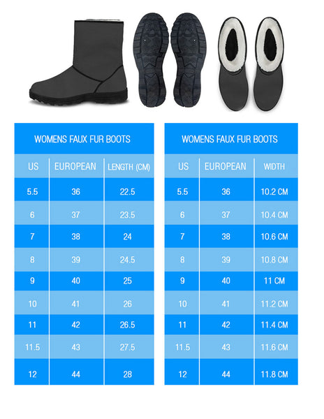 Faux Fur Boots Sizes