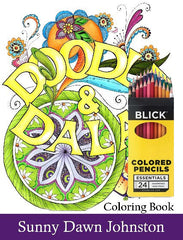 Doodles and Dalas Coloring Book with Pencils