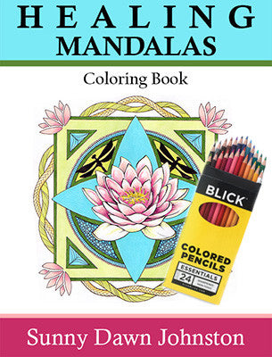 Image of Healing Mandalas Coloring Book with Pencils