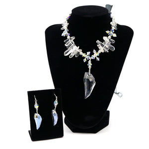 Archangel Gabriel Necklace & Earrings Set