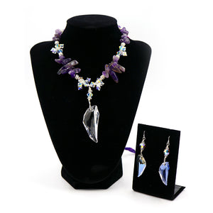 Archangel Zadkiel Necklace & Earrings