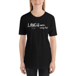 Laugh More Short-Sleeve Unisex T-Shirt