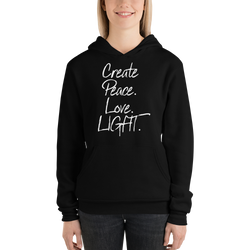 CREATE PEAVE LOVE LIGHT Unisex hoodie