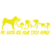 Load image into Gallery viewer, My Akita Ate Your Stick Family Vinyl Decal - FN Decals