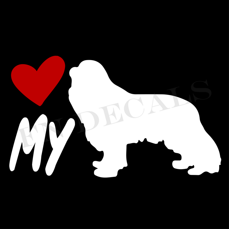 Love My Cocker Spaniel Vinyl Decal Sticker (V1) - Decal Sticker World