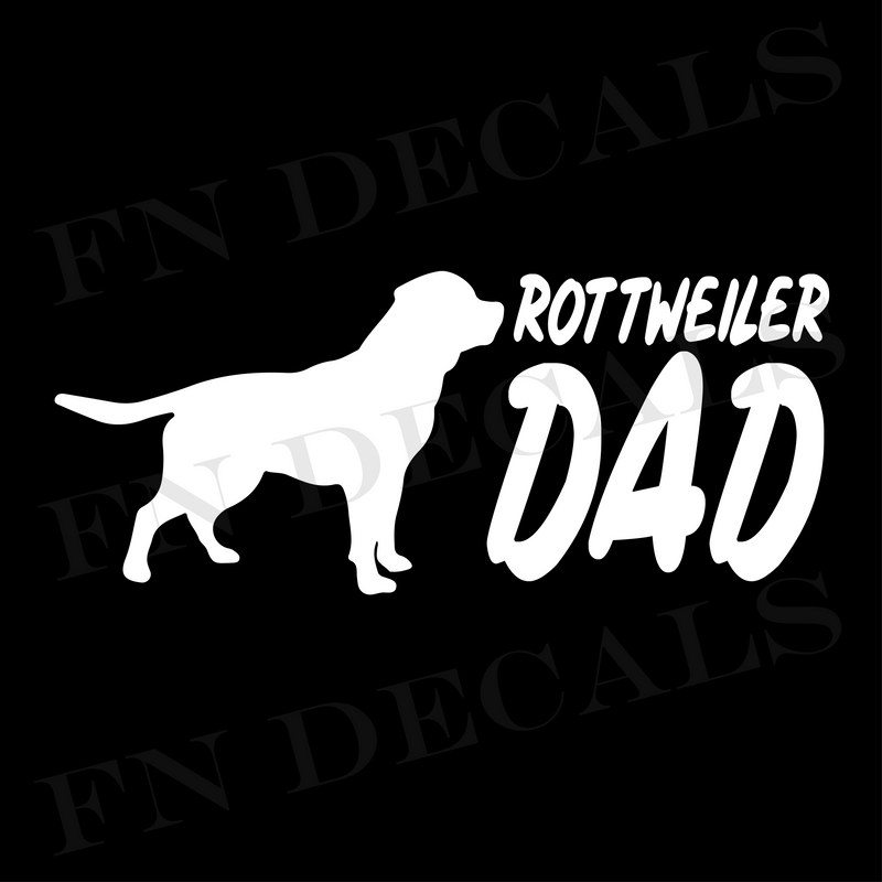 Rottweiler Dad Vinyl Decal Sticker (V2) - Decal Sticker World