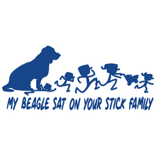 Load image into Gallery viewer, My Beagle Sat On Your Stick Family - FN Decals