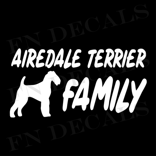 Airedale Terrier Family 1 Custom Car Window Vinyl Decal - FN Decals