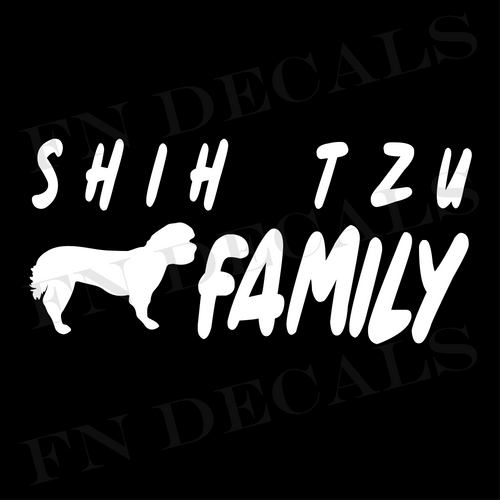 Shih Tzu Family 1 Custom Car Window Vinyl Decal Sticker - FN Decals