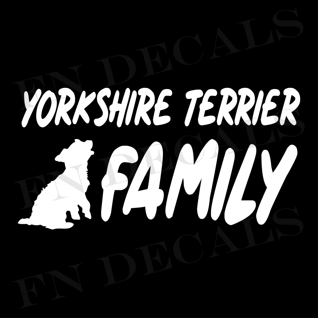 Yorkshire Terrier Family 1 Custom Car Window Vinyl Decal - FN Decals
