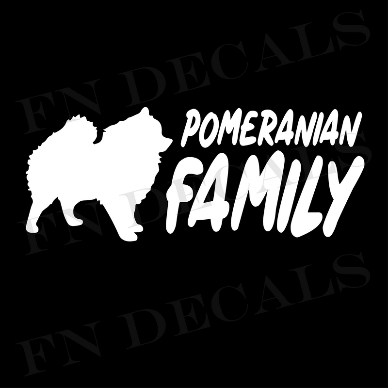 Pomeranian Family Vinyl Decal Sticker (V2) - Decal Sticker World