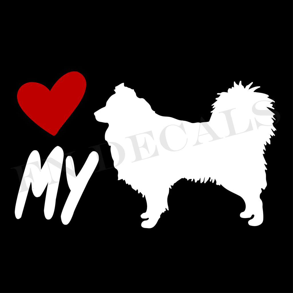 Australian Shepherd Love My Custom Car Window Vinyl Decal - FN Decals