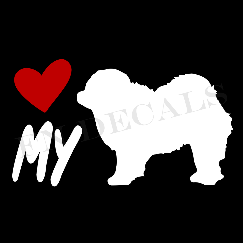 Chow Chow Love My Custom Car Window Vinyl Decal Sticker - FN Decals