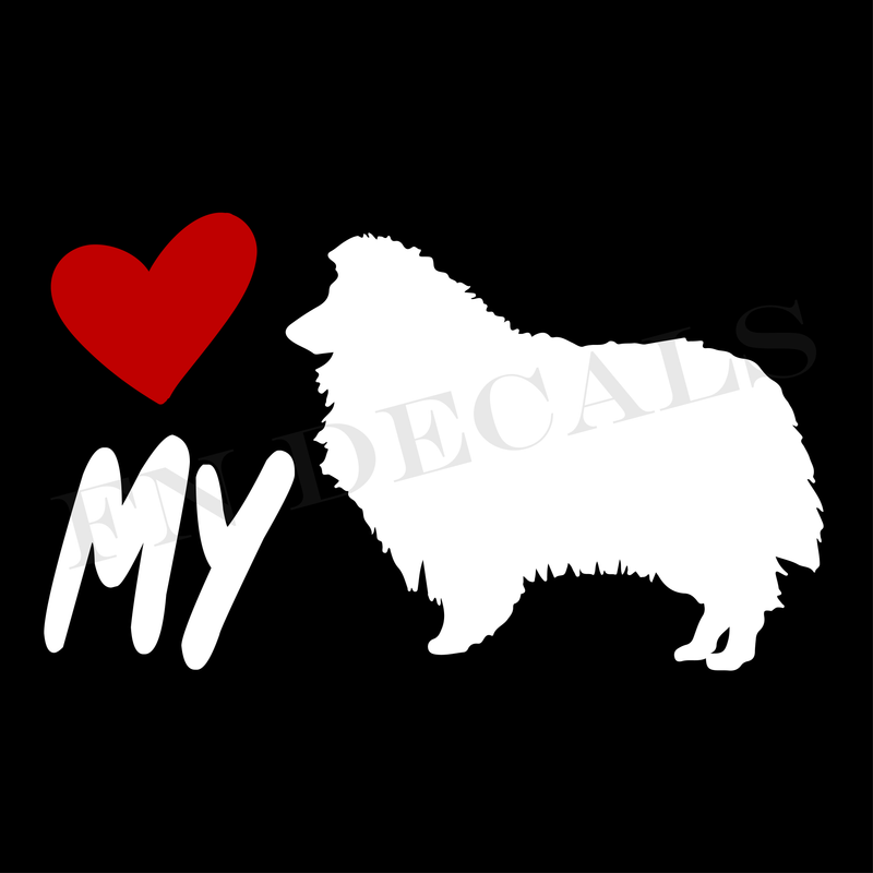 Love My Collie Vinyl Decal Sticker (V1) - Decal Sticker World