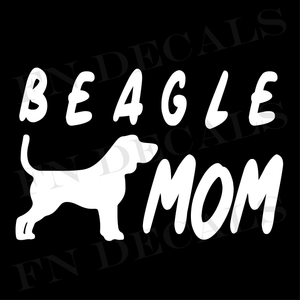 Beagle Mom 1 Custom Car Window Vinyl Decal - FN Decals