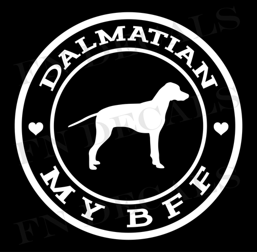 Dalmatian My BFF Custom Car Window Vinyl Decal Sticker - FN Decals