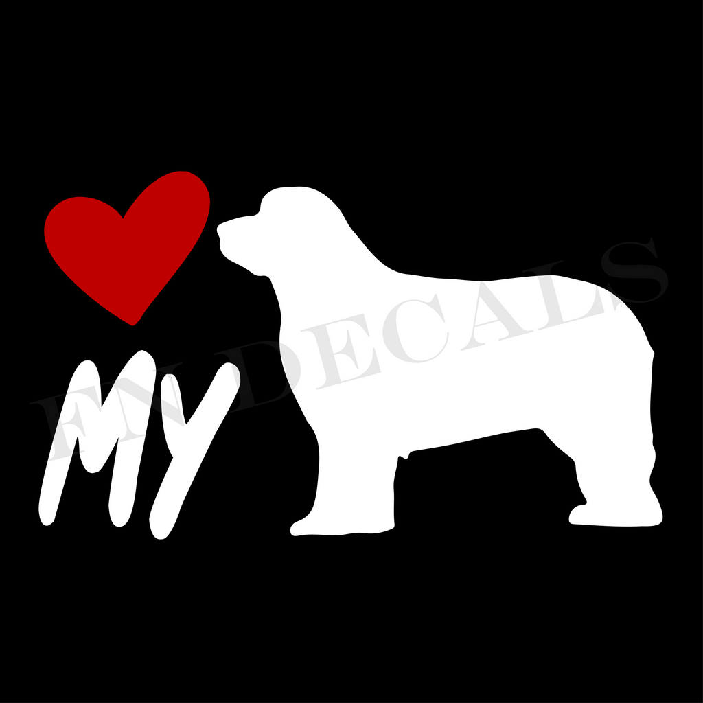 Newfoundland Love My Custom Car Window Vinyl Decal Sticker - FN Decals
