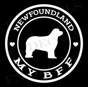 Newfoundland My BFF Custom Car Window Vinyl Decal Sticker - FN Decals