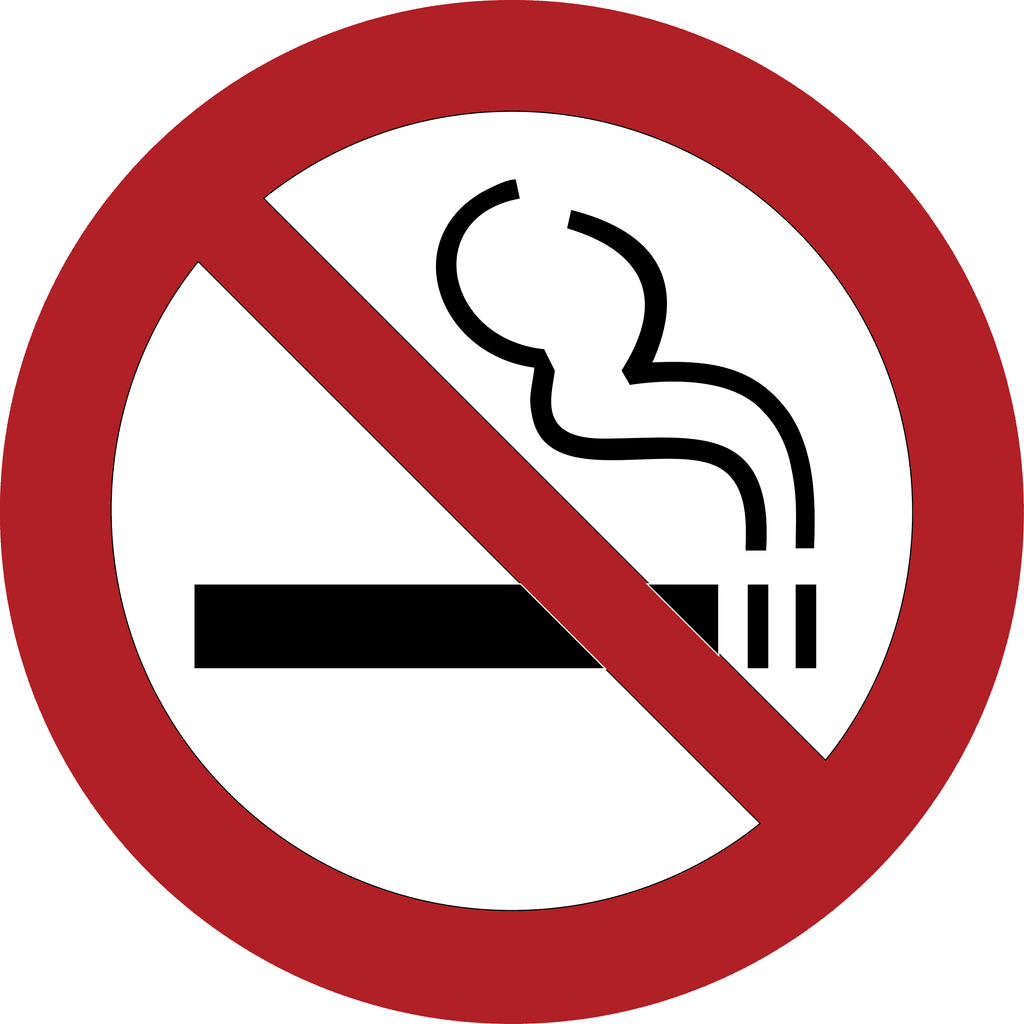 No Smoking Custom Car Window Vinyl Decal - FN Decals