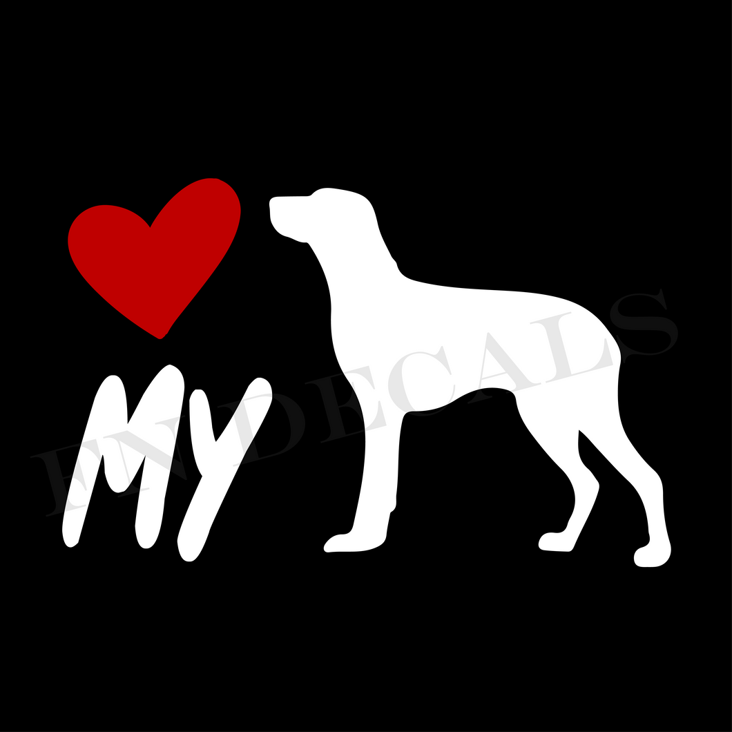 Pointer Love My Custom Car Window Vinyl Decal Sticker - FN Decals