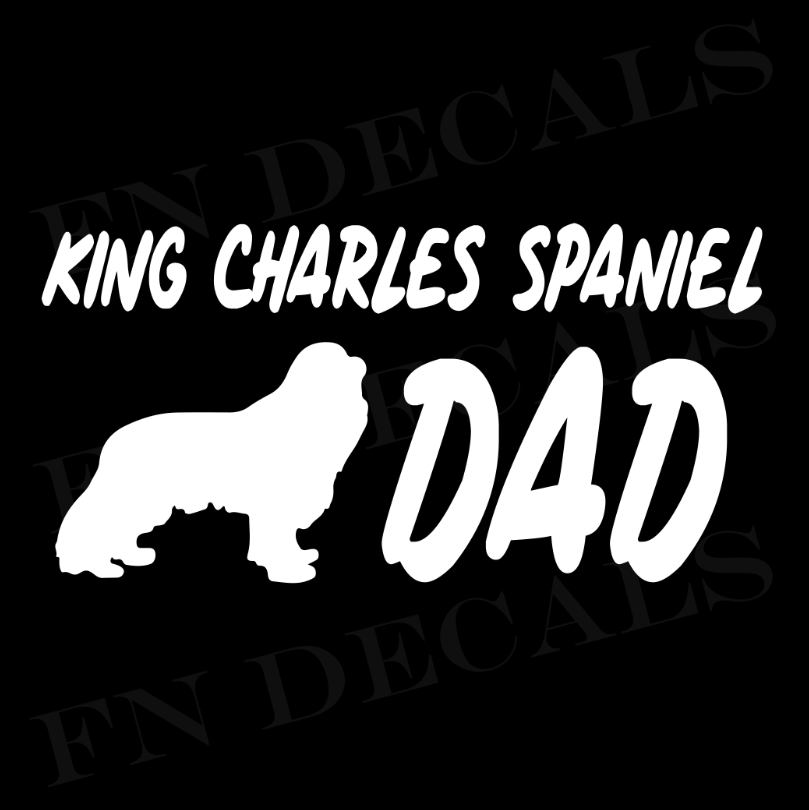 King Charles Dad 1 Custom Car Window Vinyl Decal - FN Decals