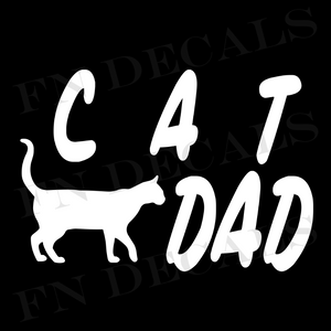 Cat Dad 1 Custom Car Window Vinyl Decal Sticker - FN Decals