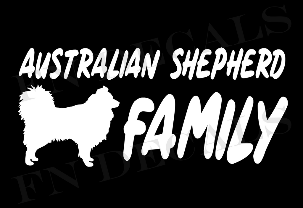 Australian Shepherd Family 1 Custom Car Window Vinyl Decal - FN Decals