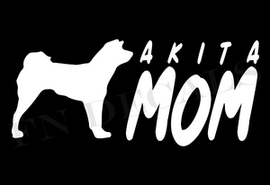 Akita Mom 2 Custom Car Window Vinyl Decal - FN Decals