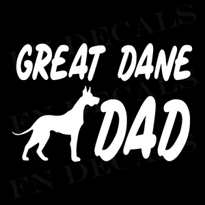 Great Dane Dad 1 Custom Car Window Vinyl Decal Sticker - FN Decals
