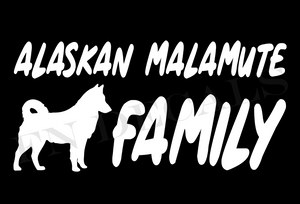 Alaskan Malamute Family 1 Custom Car Window Vinyl Decal - FN Decals